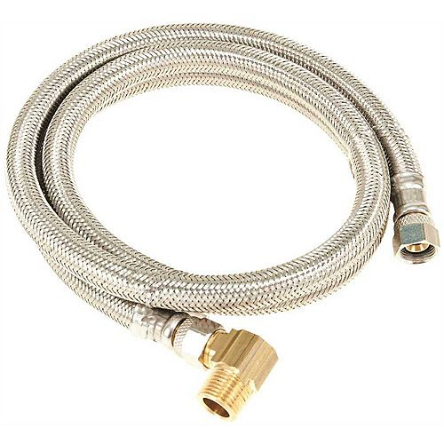 Durapro Dishwasher Connector, 3/8 In. Compression X 3/8 In. Compression X 72 In., Stainless Steel