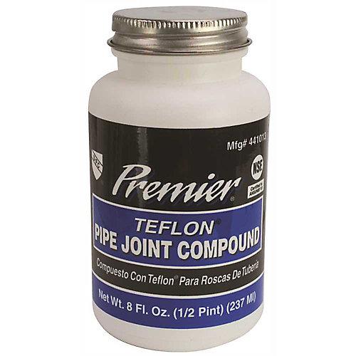 Premium-Grade Teflon All-Purpose Pipe Joint Compound, 8 Oz. Bottle