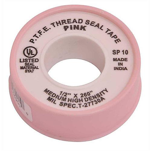 Teflon Tape 1/2 In. X 260 In. Pink