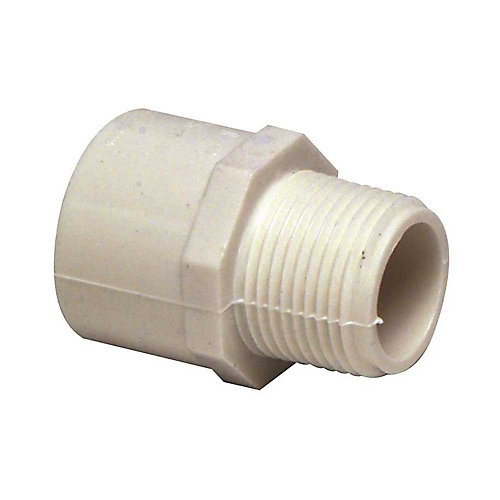 Proplus Pvc Schedule 40 Male Adapter, 1-1/2 In.