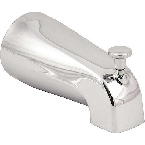 Europa Universal Bathtub Spout With Front Diverter, Chrome, 5-1/4 inch, 1/2- Or 3/4-inch Ips