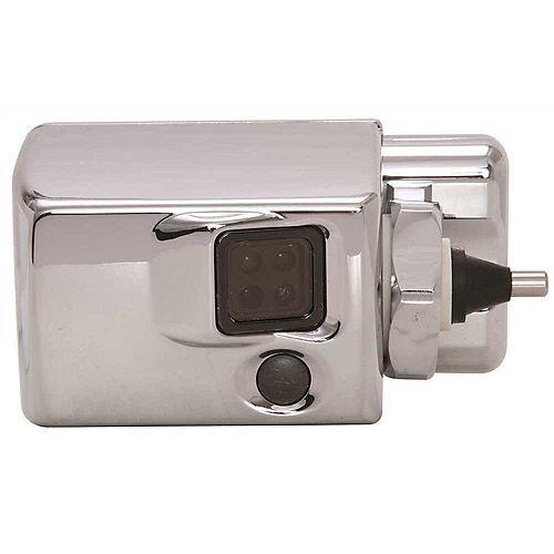 Autoflush Sidemount With Courtesy Flush Button, Metal