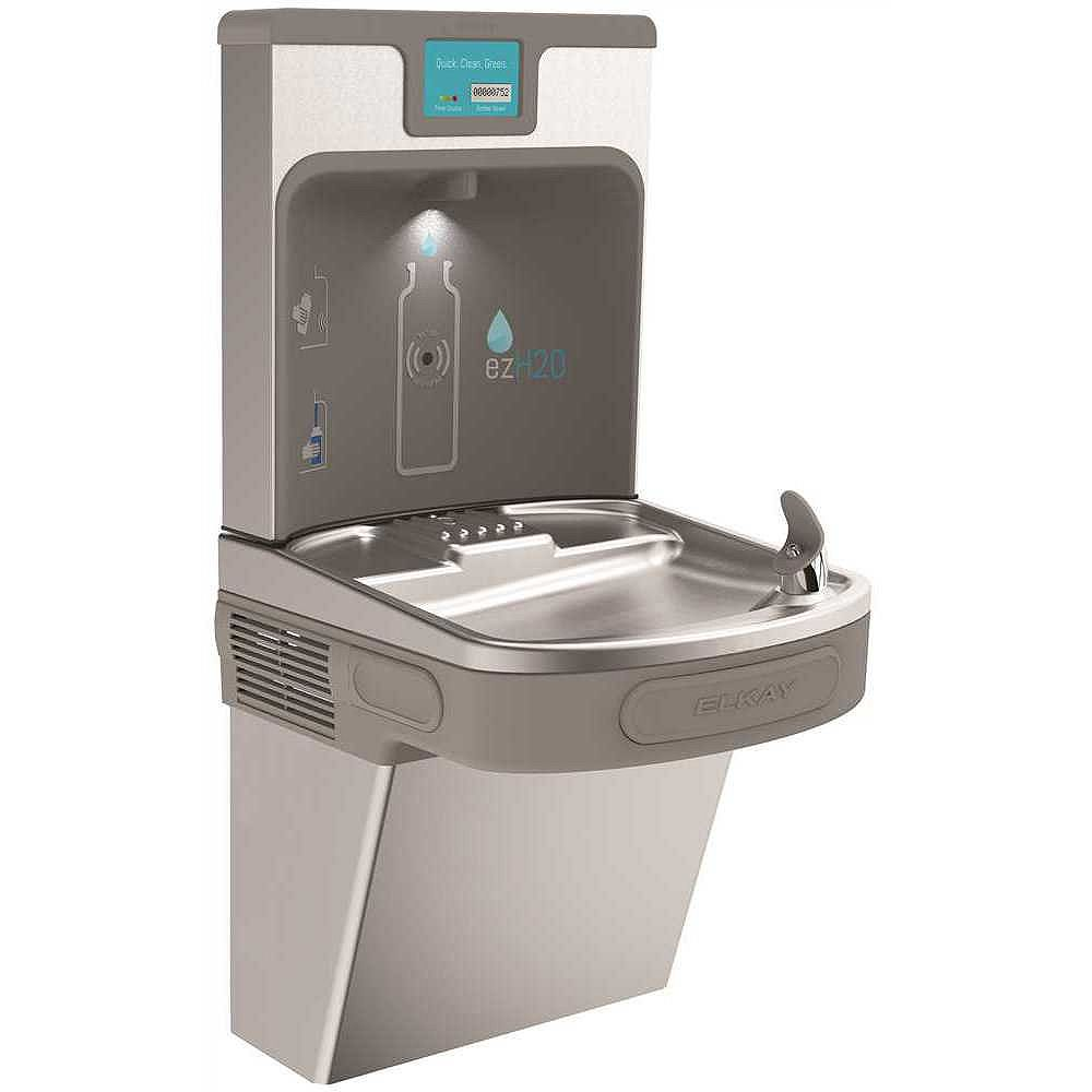 Elkay Enhanced Ezh2o Bottle Filling Station And Drinking Fountain In Stainless Steel Filt The Home Depot Canada