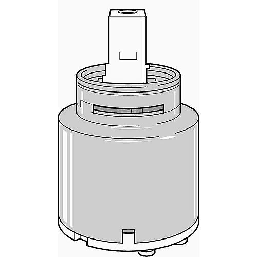 Ceramic Cartridge Assembly for Single-Handle Kitchen and Bathroom Sink Faucets