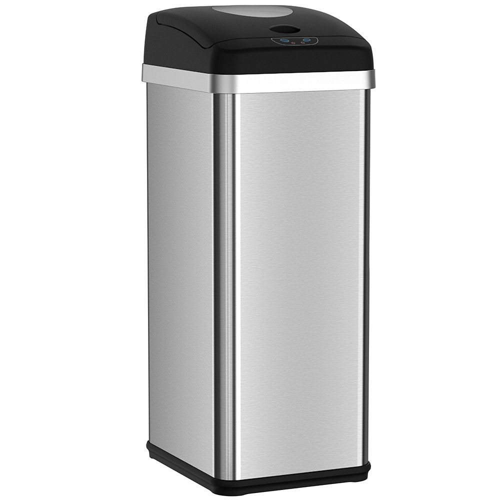 Halo Compactor Trash Can with Deodorizer 13 Gallon Stainless Steel