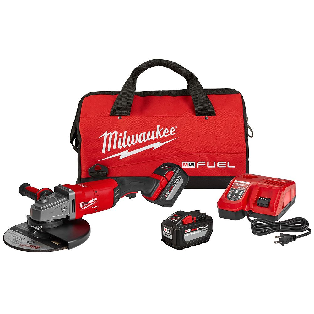 Milwaukee Tool M18 FUEL 18-Volt Lithium-Ion Brushless Cordless 7 inch /9 inch Grinder W/ Paddle Switch Kit