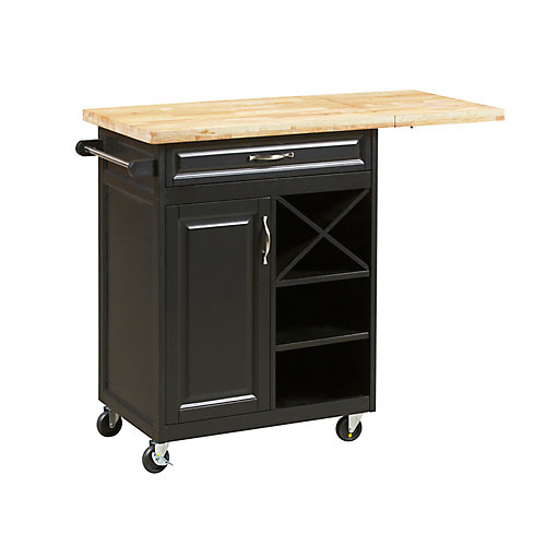 1-Drawer Kitchen Cart with large worktop