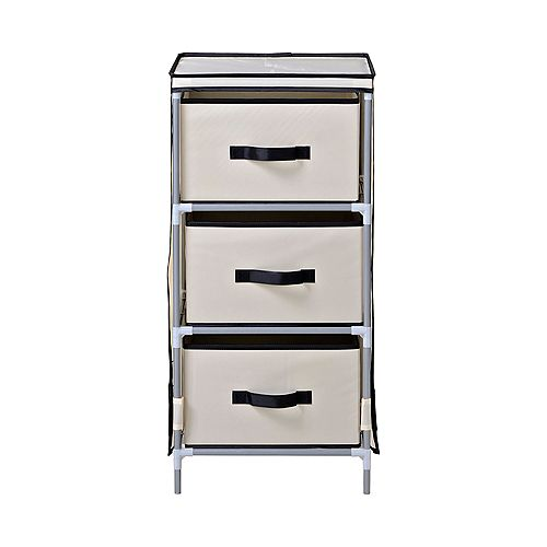 3-Drawer Fabric Dresser