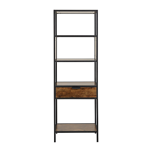 Metal Wood Display Cabinet with drawer