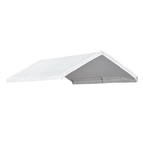AccelaFrame Canopy 10 x 20 ft. Replacement Cover - White (Canopy Frame Sold Separately)