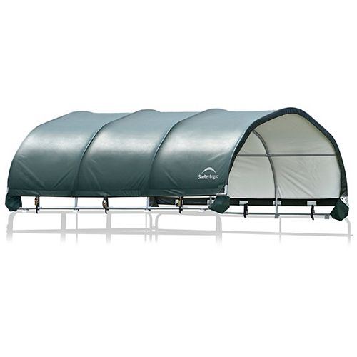 12 x 12 ft. Corral Shelter 1 3/8 inch 7.5 oz. Green Cover (Corral panels not included)