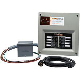 Homelink Manual Transfer Switch 30 amp 6-8 circuit kit