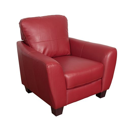 Jazz Chair in Red Bonded Leather
