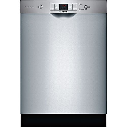 Bosch 100 Series 24-inch Front Control  Dishwasher in Stainless Steel, 50dBA Anti-Fingerprint ENERGY STAR®
