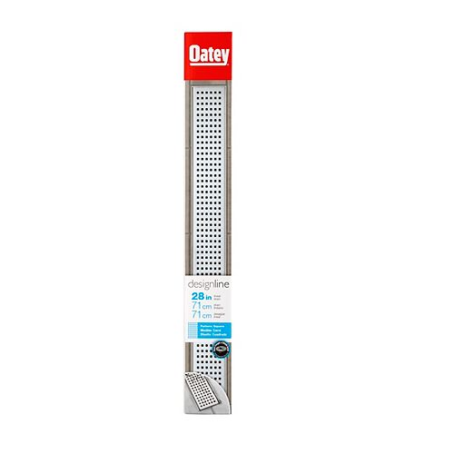 28 inch Ss Linear Drain Square Grate