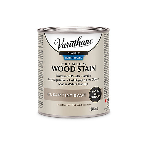 Classic Premium Water-Based Wood Stain Clear Tint Base - Tintatable To 10 Colours, 858 Ml