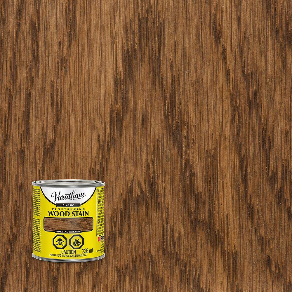 Varathane Teinture à bois classique pénétrante à base d'huile en noyer spécial, 236 mL