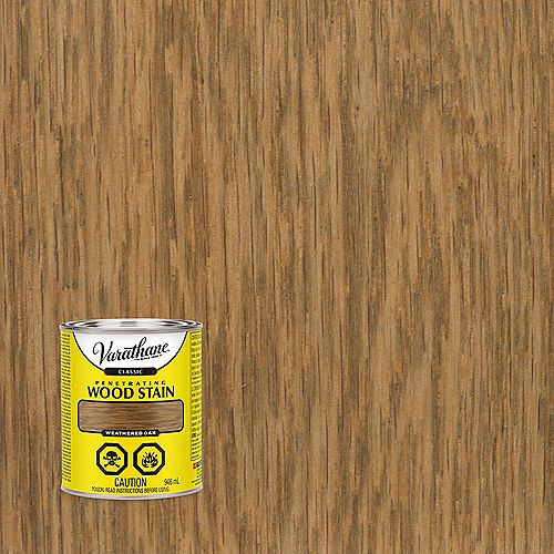 Classic Penetrating Oil-Based Wood Stain In Weathered Oak, 946 mL