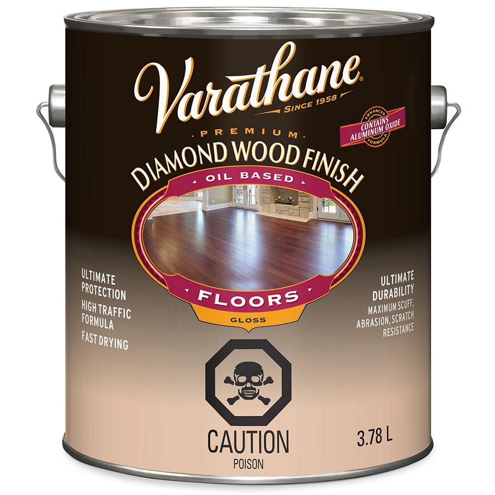 Varathane Diamond Finish Premium Wood Finish for Floors, Oil-Based in Gloss Clear, 3.78 L
