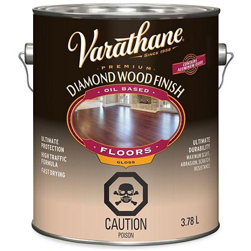 Varathane Premium Diamond Wood Finish For Floors, Oil-Based In Gloss Clear, 3.78 L