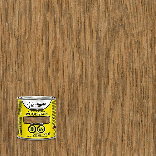 Penetrating Oil-Based Wood Stain in Weathered Oak, 236 mL