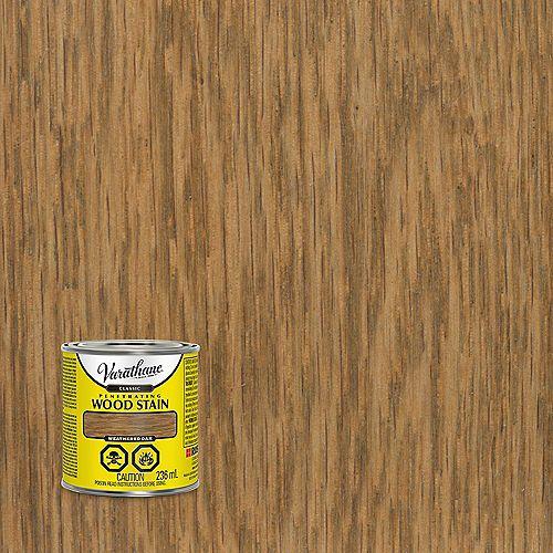 Teinture à bois classique pénétrante à base d'huile dans du chêne patiné, 236 mL