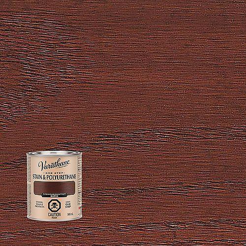 Varathane One Step Oil-Based Stain & Polyurethane In Satin American Chestnut, 946 mL