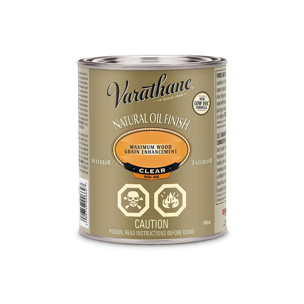 Varathane Nano Defence Natural Oil Finish For Interior And Exterior In Clear, 946 Ml