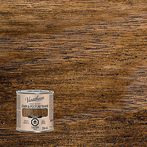 One Step Oil-Based Stain & Polyurethane In Gloss Mission Oak, 236 Ml