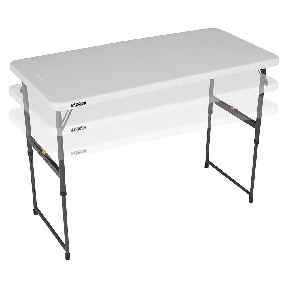 Lifetime 4 Ft. Fold-In-Half One Hand Adjustable Height Table
