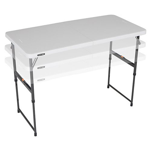 4 Ft. Fold-In-Half One Hand Adjustable Height Table