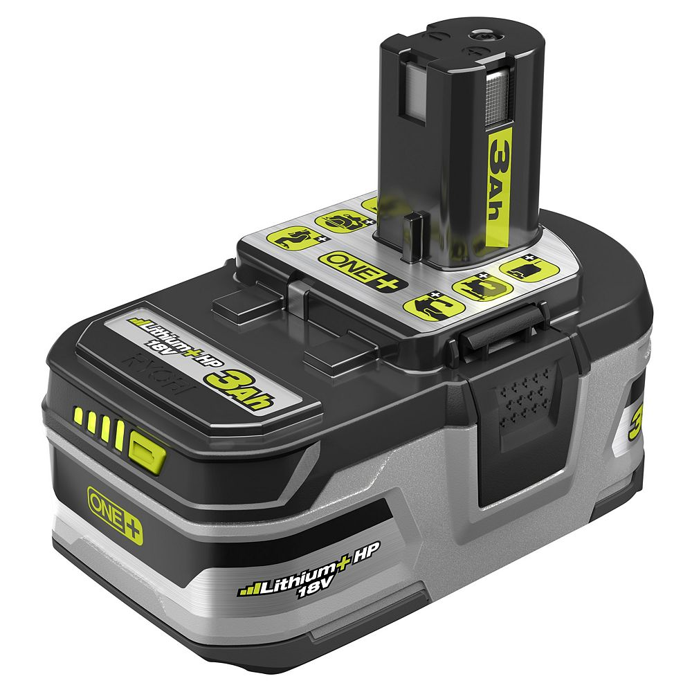 RYOBI 18V ONE+ Lithium-Ion LITHIUM+ HP 3.0 Ah High Capacity Battery