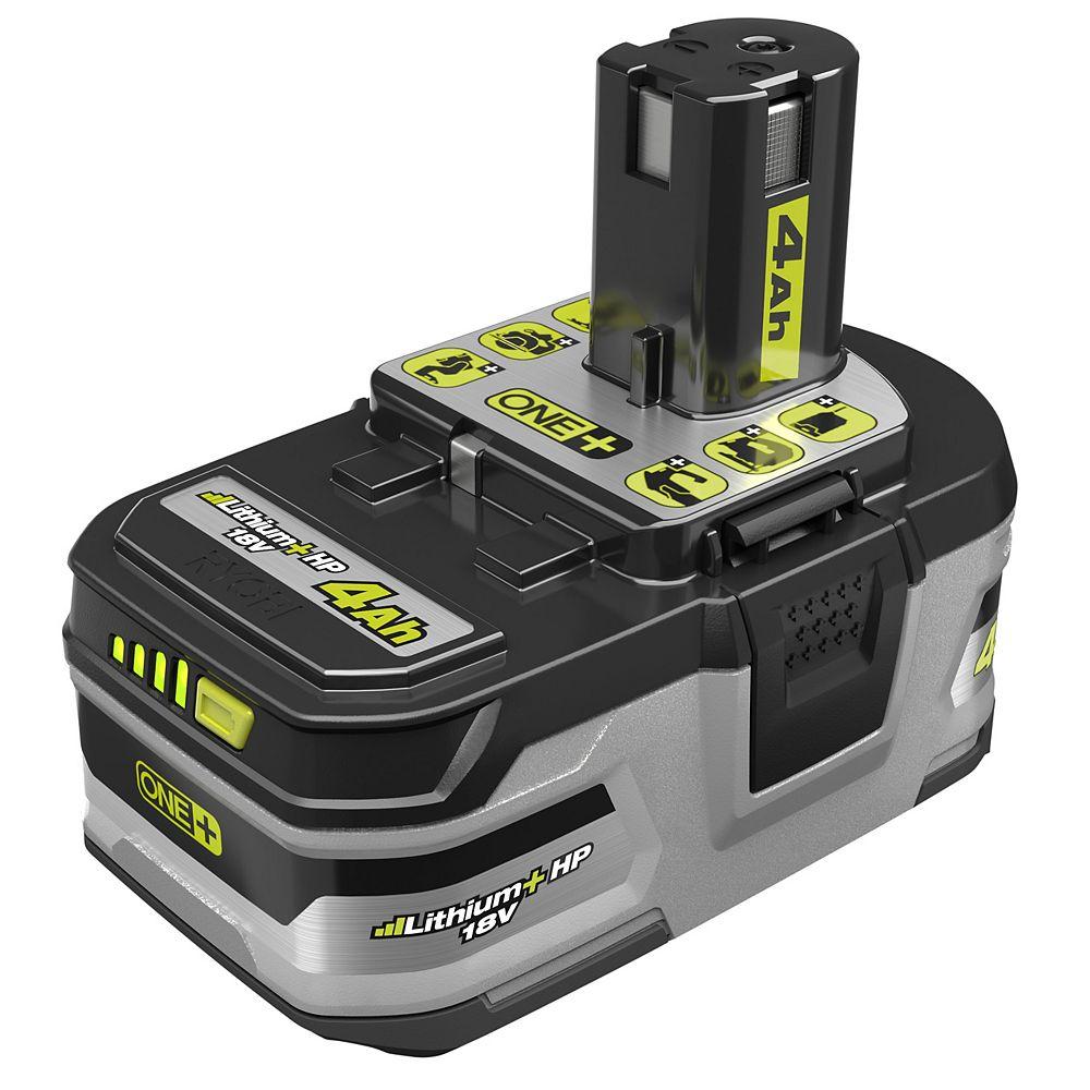 RYOBI 18V ONE+ Lithium-Ion LITHIUM+ HP 4.0 Ah High Capacity Battery