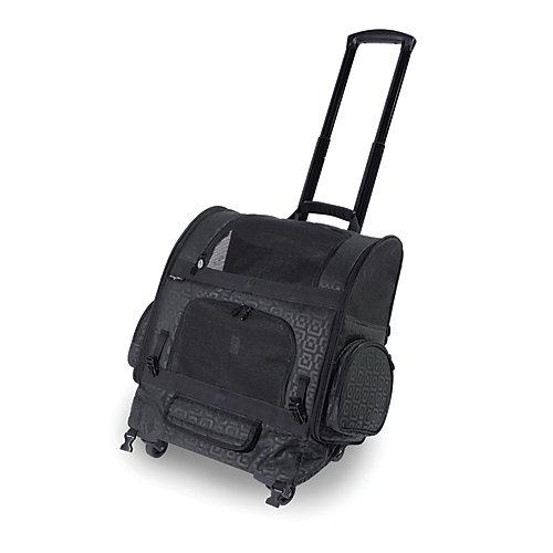 Sac de transport à roulettes pour animal domestique RC2000 Roller-Carrier Noir à motif géométrique