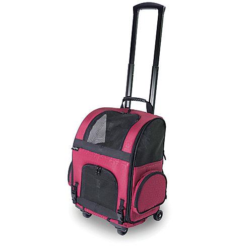 Sac de transport à roulettes pour animal domestique RC2000 Roller-Carrier Rouge à motif géométrique