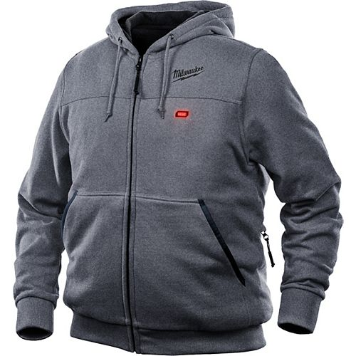 Men's Large M12 12V Lithium-Ion Cordless Gray Heated Hoodie (Jacket Only)