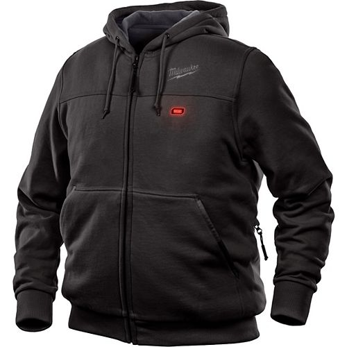 Men's Large M12 12V Lithium-Ion Cordless Black Heated Hoodie (Jacket Only)