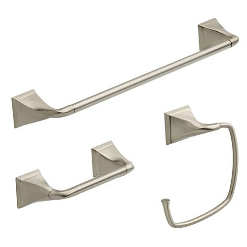 Everly 3-Piece Bath Hardware Set in Brushed Nickel