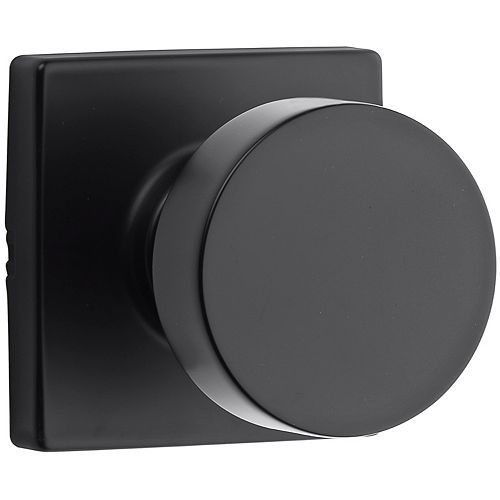 Cambie Passage Door Knob in Black