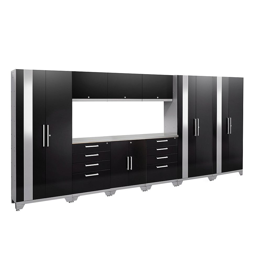 NewAge Products Inc. Performance 2.0 Black Garage Cabinet Set (10-Piece)