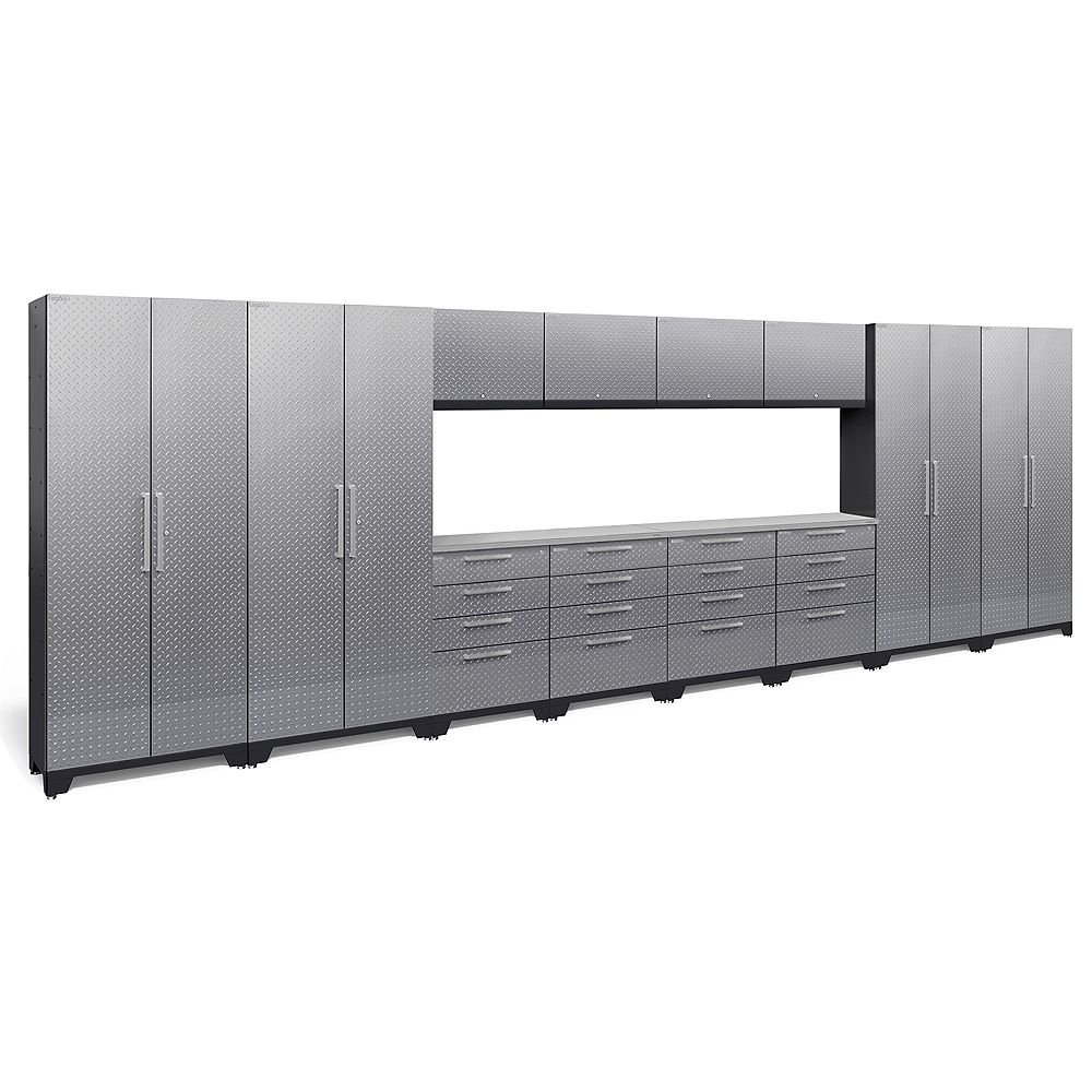 NewAge Products Inc. Performance 2.0 Diamond Plate Silver 14-Piece Set