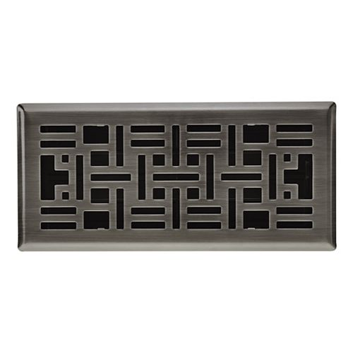 Hampton Bay Registre de plancher Métiers d'art - Nickel Antique 4po x 10 po