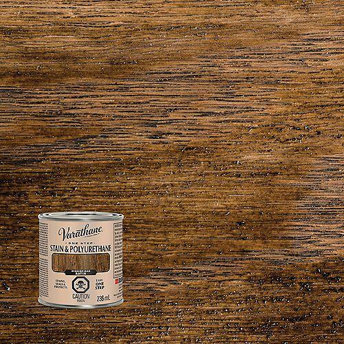 One Step Teinture Et Polyuréthane À Base D'Huile En Chêne Classique Satiné - 236 Ml