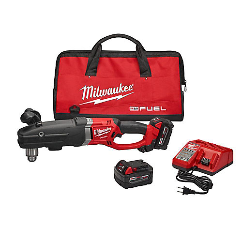 M18 FUEL 18V Li-Ion SuperHawg 1/2-In. Brushless Cordless Right Angle Drill Kit W/ (2)5.0Ah Batteries