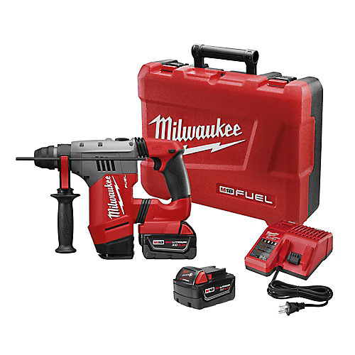 M18 FUEL 18-Volt Lithium-Ion 1-1/8-Inch SDS+ Brushless Cordless Rotary Hammer w/ (2) 5.0Ah Batteries