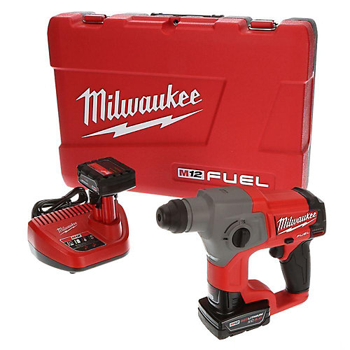 M12 FUEL 12V Lithium-Ion 5/8-Inch Brushless Cordless SDS+ Rotary Hammer Kit W/ (2) 4.0Ah Batteries