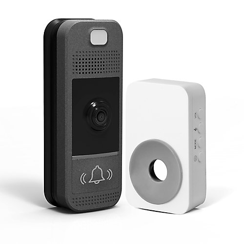 Wifi-Enabled Video Doorbell in Slate Grey with Wireless Chime