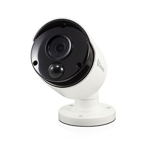 5MP Outdoor True Detect Thermal-Sensing Bullet Security Camera - White