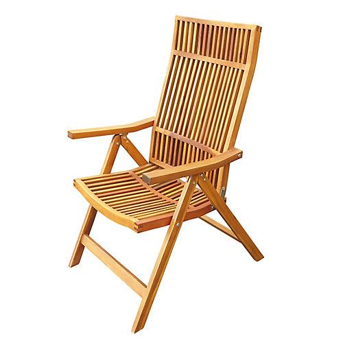 Chaise longue pliante à 5 positions