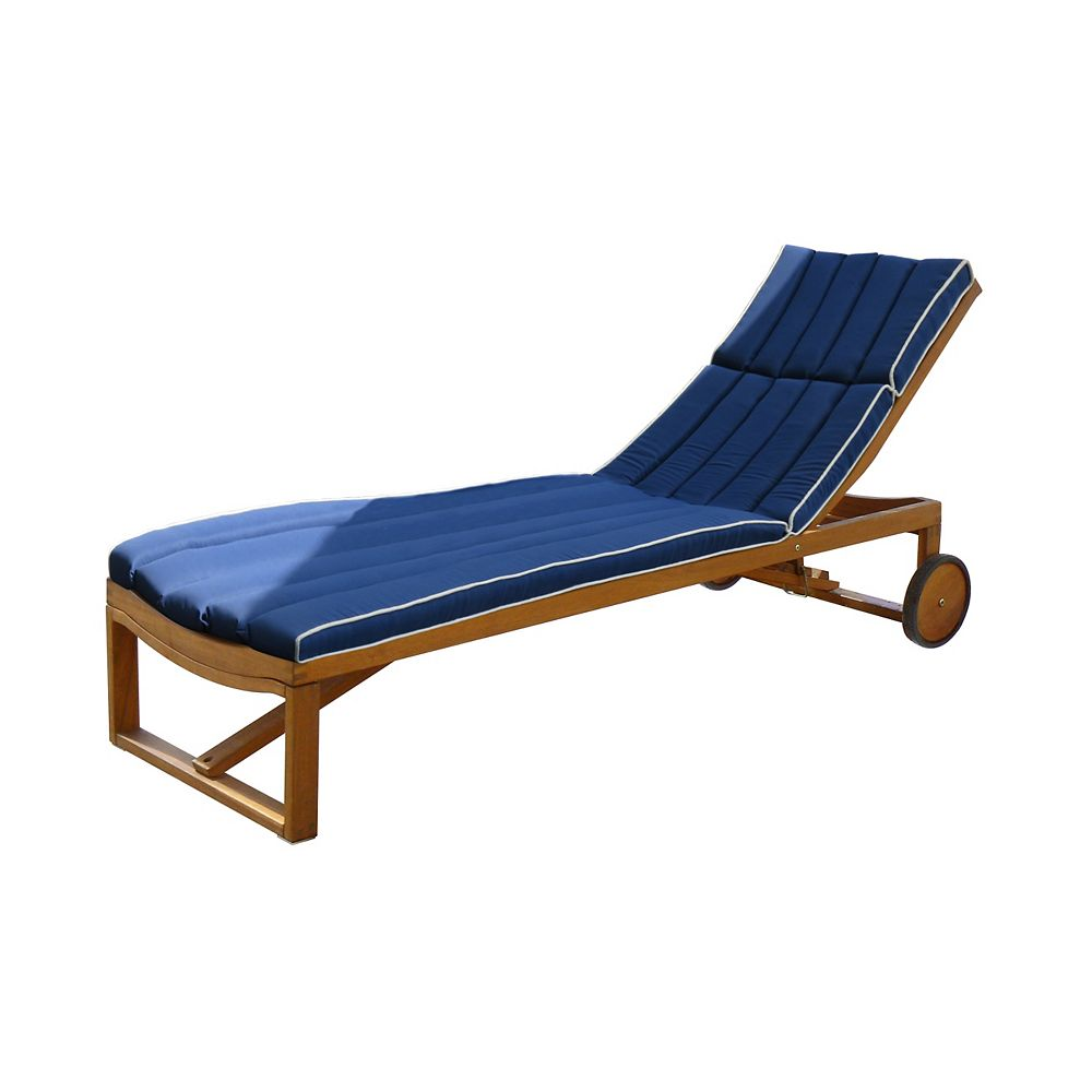 Stockholm Cushion for Sun Lounger, Navy Blue